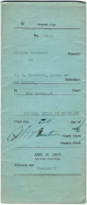 Figure 1. Cover of final divorce decree